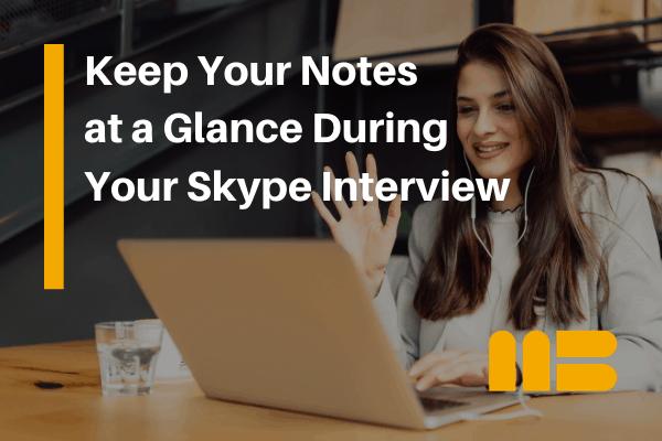 interviewer preparing for skype interview