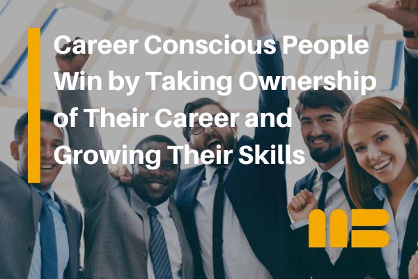 four excited career conscious professionals
