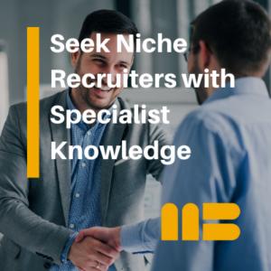 hr professional choosing a niche recruiter