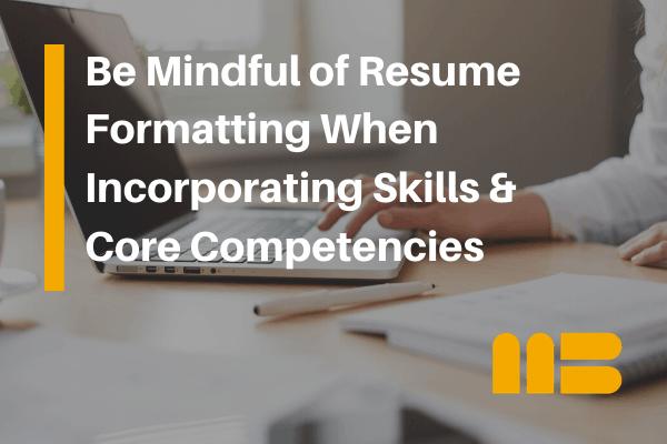 job seeker updating a resume