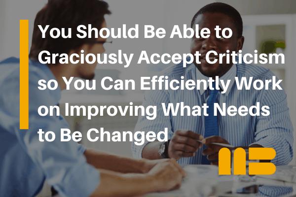 employee receiving constructive criticism